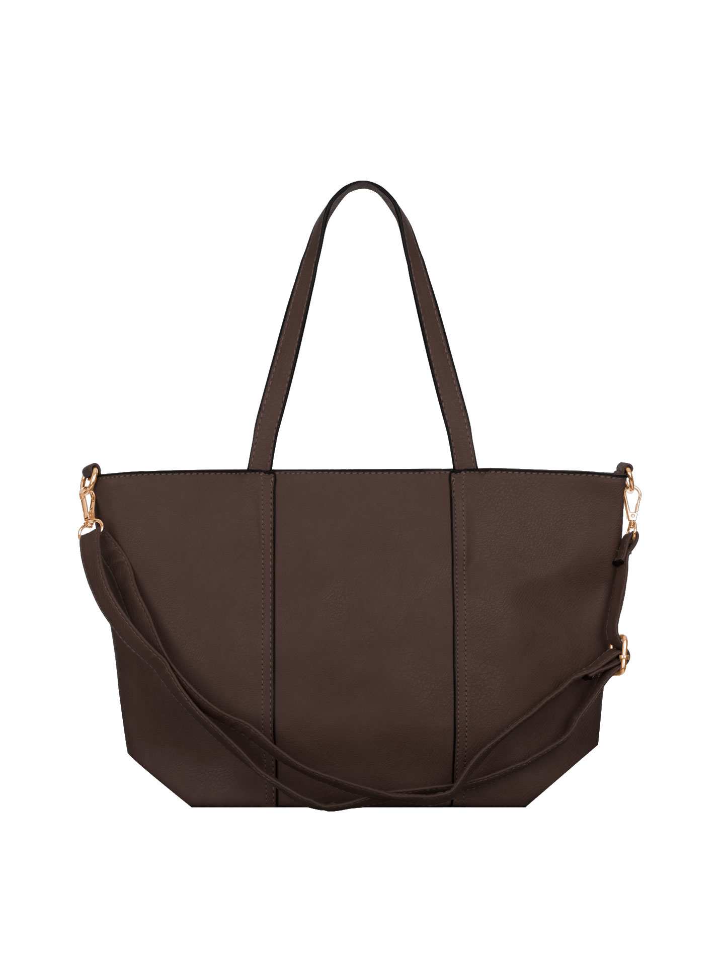 Shoulder bag with decorative seams in dark brown 91d0509b59c2e