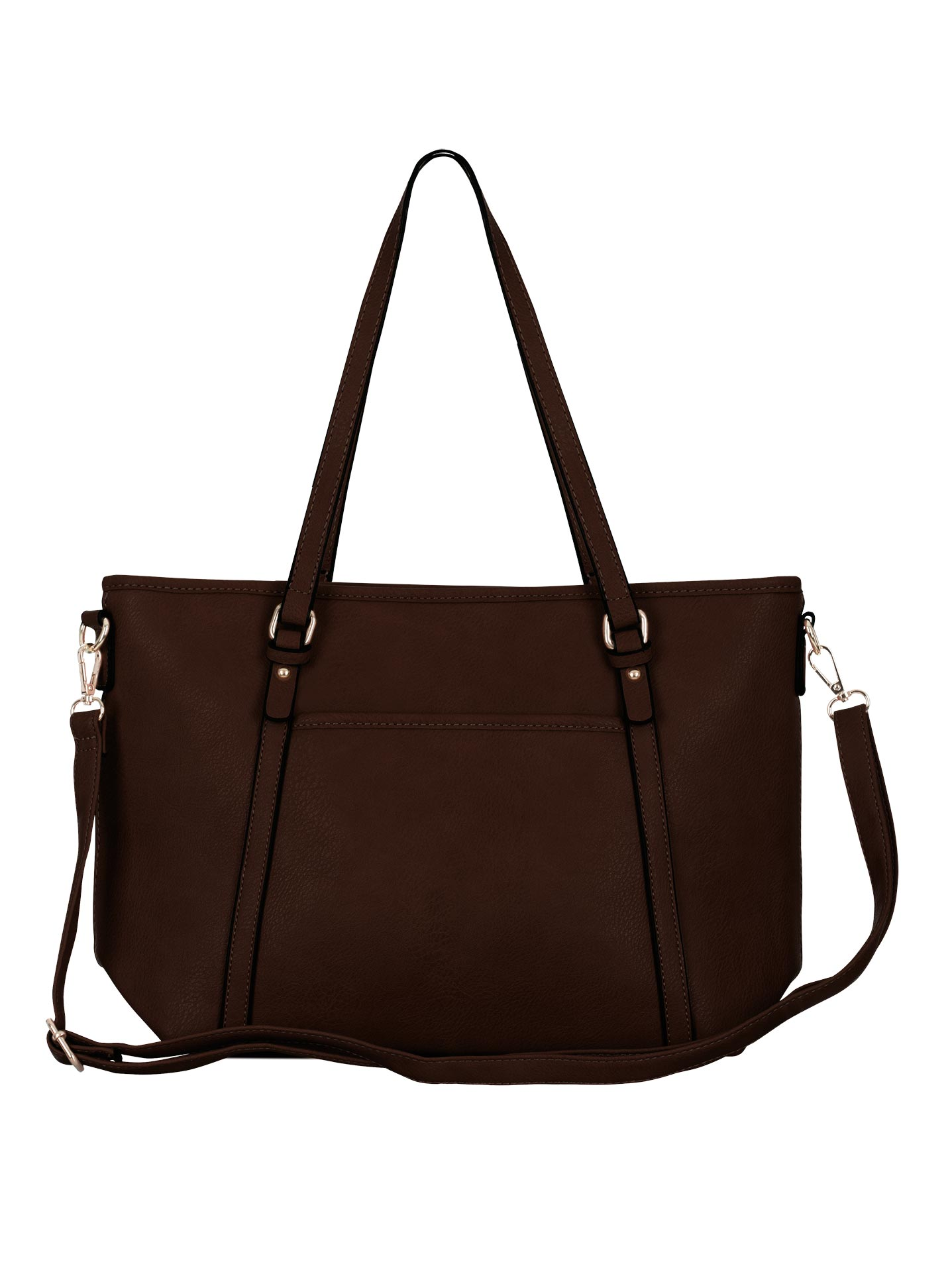 4ba635cd2d Τσάντα ώμου με τσέπη σε καφε σκουρο