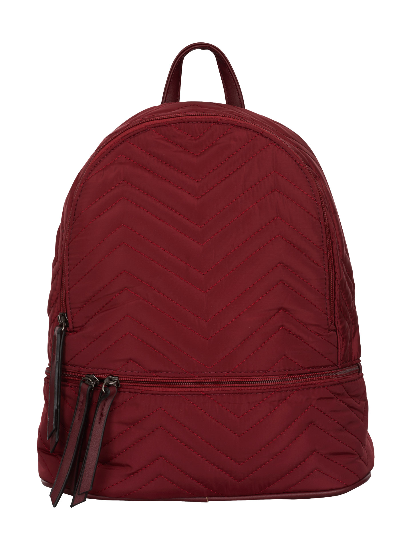 Quilted waterproof backpack in wine red 70600b3bb78a6