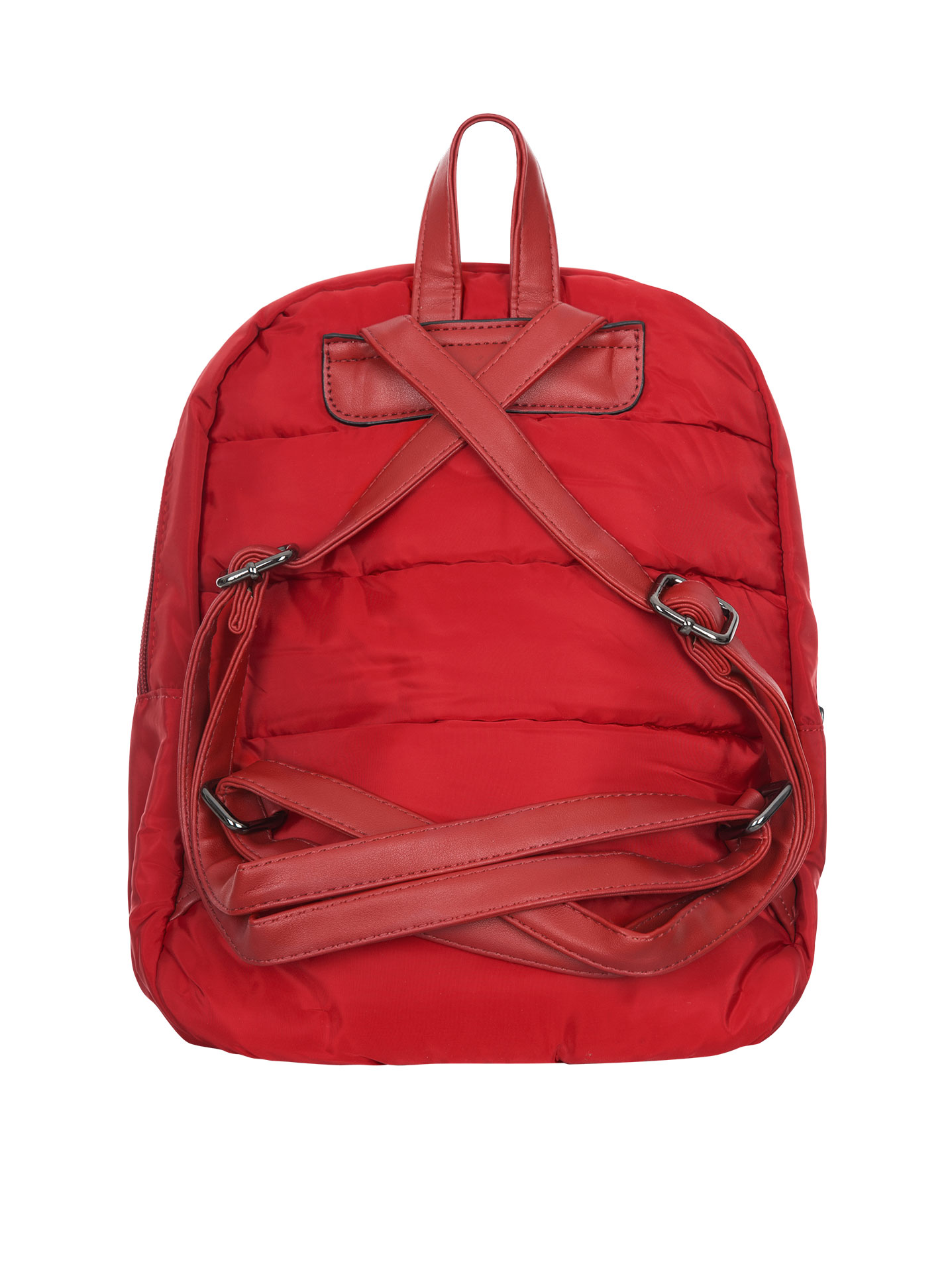 Quilted waterproof backpack in red 12d469fc0ac90