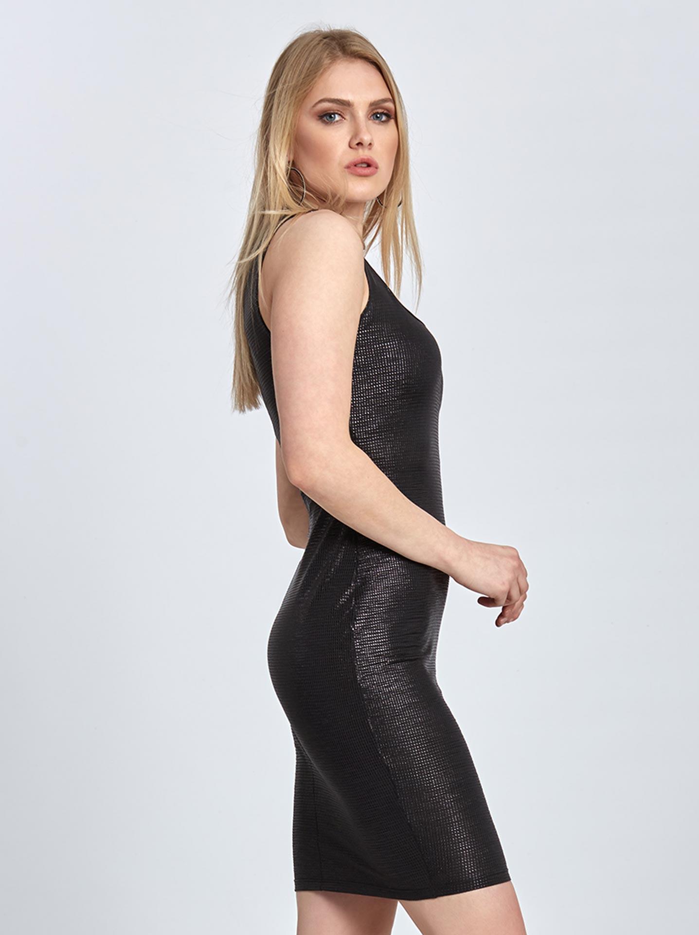Μεταλλιζέ φόρεμα σε μαυρο 5b5e45ff628