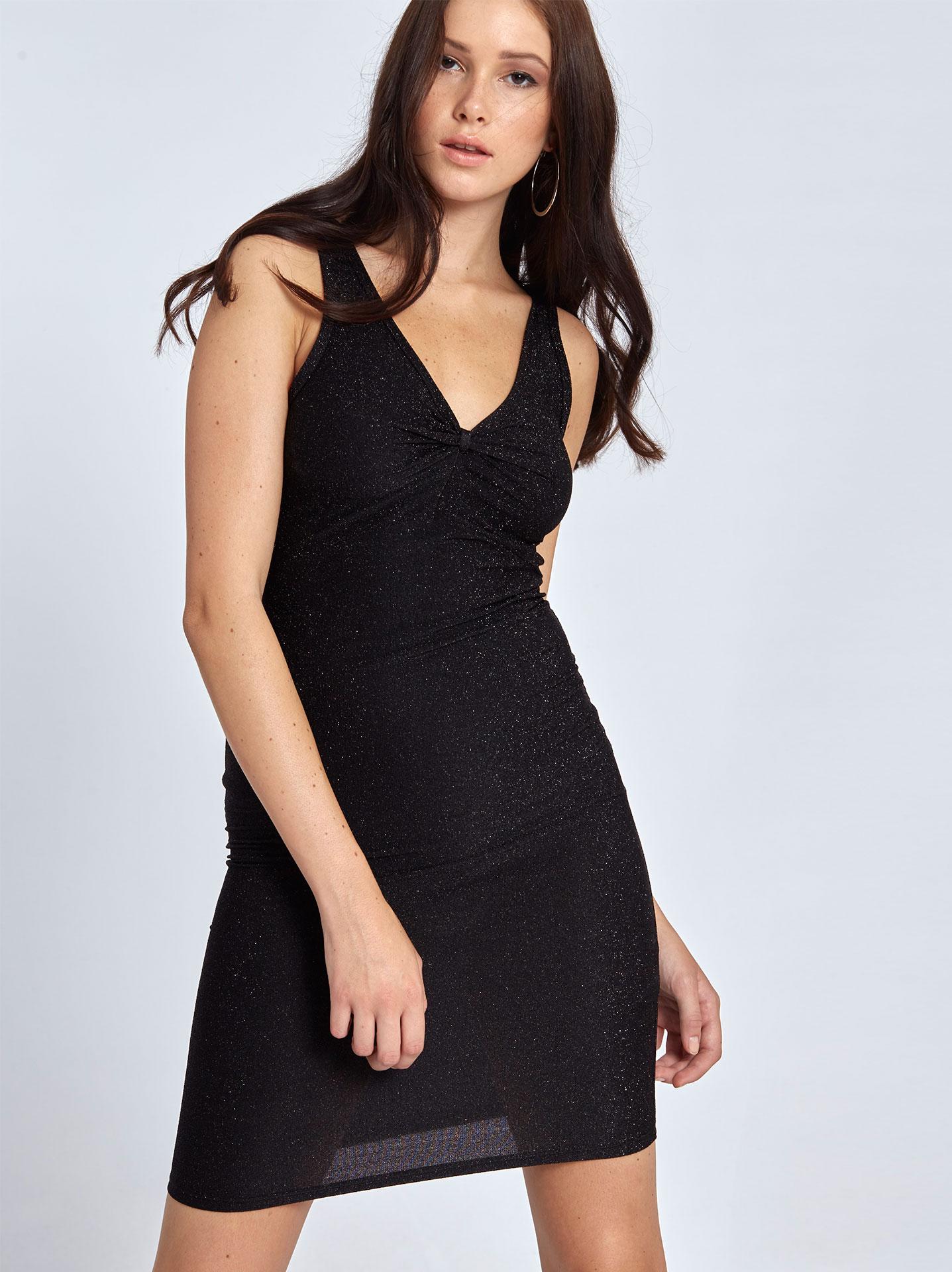Mini μεταλλιζέ φόρεμα σε μαυρο e8b4ade1731